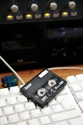Voice recording on digital audio tape