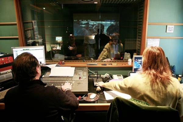 Voicing Ron Howard's 'The Dilemma', with Fiamma Izzo right