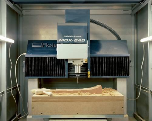 CNC-milling machine in the 3D Digital Manufacturing workshop
