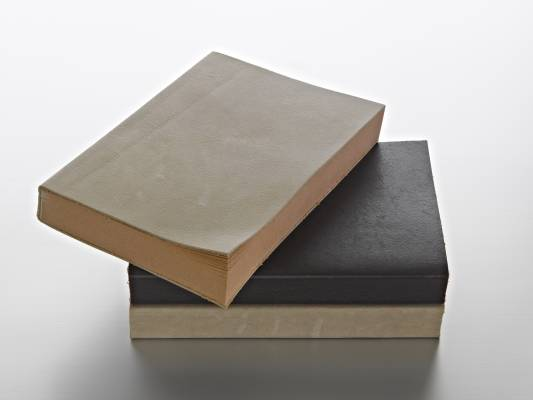Notebooks with leather covers from Muji Shanghai collection