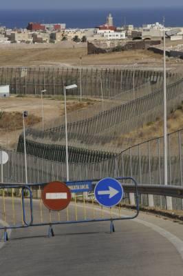 Melilla's six metre-high, 11km-long border fence