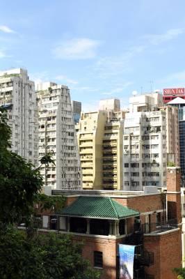 Old and new Hong Kong buildings