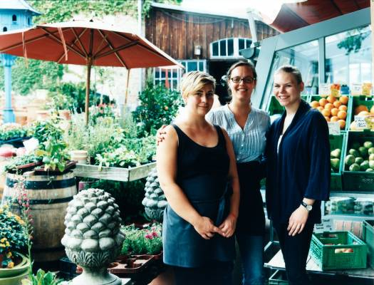 Staff at the deli/cafe Mutter Fourage