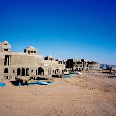 Villas under construction at the Saraya project