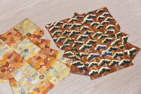 Kimono-shaped postcards