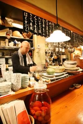 Owner-chef Munehiro Ikeda at work