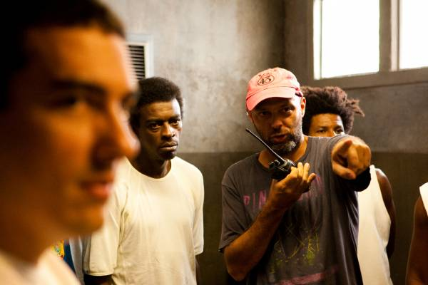 Giving instructions on set