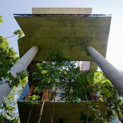 Abundance of concrete, an example of the Paulista school of architecture