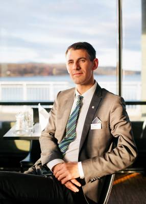 Thomas Hjellestad, manager of Thon Hotel Kirkenes