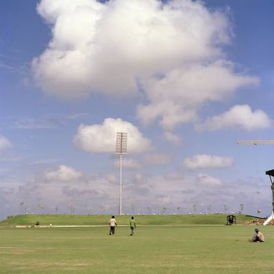 The Suriyawewa International Cricket Stadium in Hambantota, which hosted matches in February's World Cup