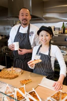 Skip Egg chief pastry chef Koji Sekiand employee