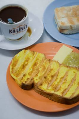 French toast and kaya from Killiney Kopitiam