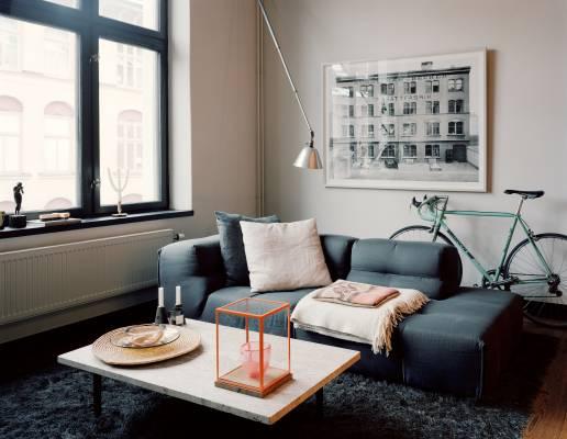 Andreas Martin-Löf's living room B&B Italia sofa by Patricia Urquiola