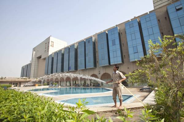 Gardener at Basra International Hotel