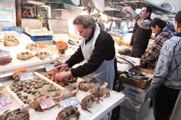 Fishmonger Dimitra Arapi