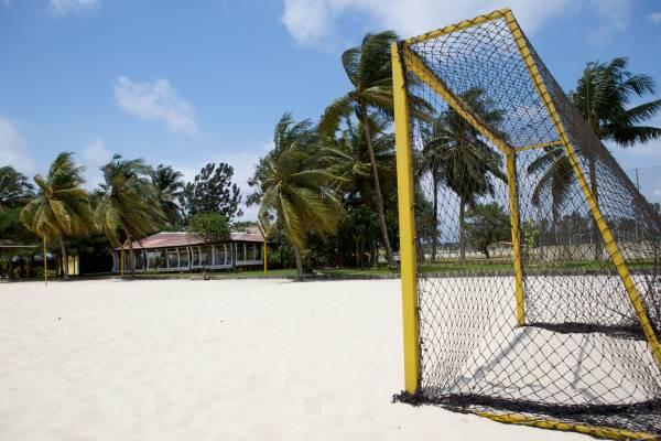 Beach football pitch