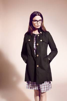 Coat and dress by Oliver Spencer, glasses by Prada