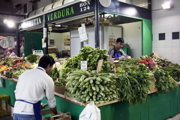 The spice market near Piazza Vittorio