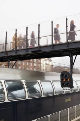 Commuters at Østerport station, Copenhagen