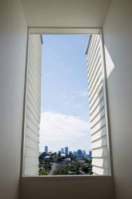 View of Brisbane through energy-efficient glass