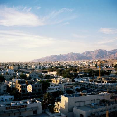 Bird's-eye view of the city