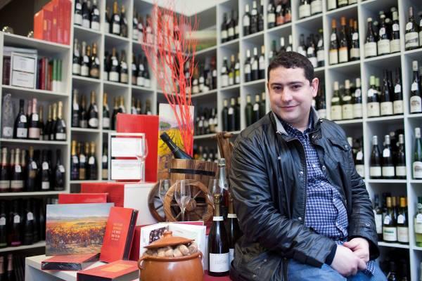 Dani Corman at his store, Essencia