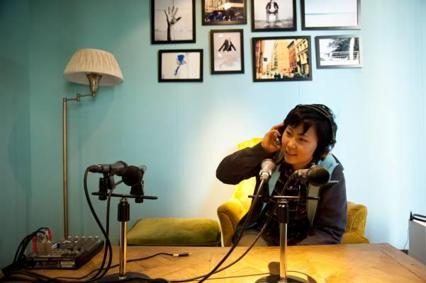 Kana Naoi in the radio station