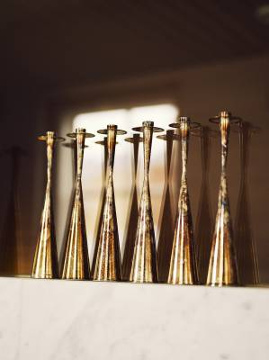 Brass TW189 candleholders by Tapio Wirkkala (1957)
