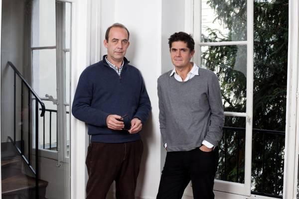 Patrick de Saint Exupéry (left) and Laurent Beccaria