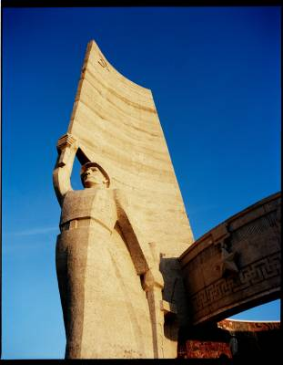 Zaisan Memorial, built by the Russians, which towers over Ulan Bator from a mountain top