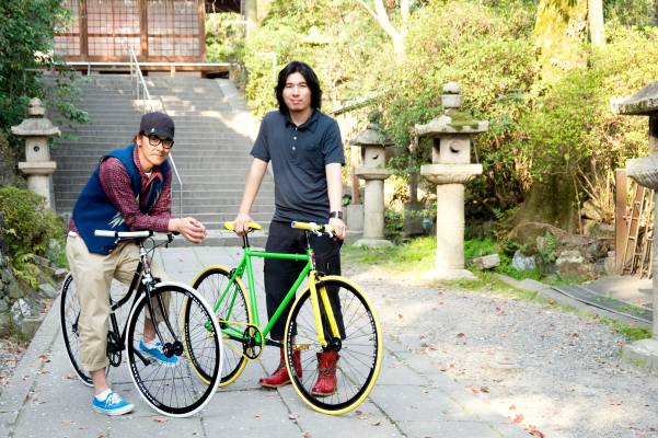 Ryotaro Taniguchi (left) and Kota Sakurai