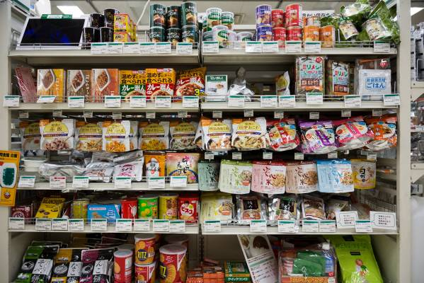 Dried foods in emergency supplies section