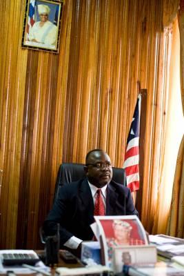 Transport minister Alphonso Gaye