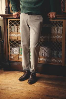 The Trousers - Trousers by Boglioli, jumper by Beams Plus, belt by Salvatore Ferragamo, shoes by Foot the Coacher