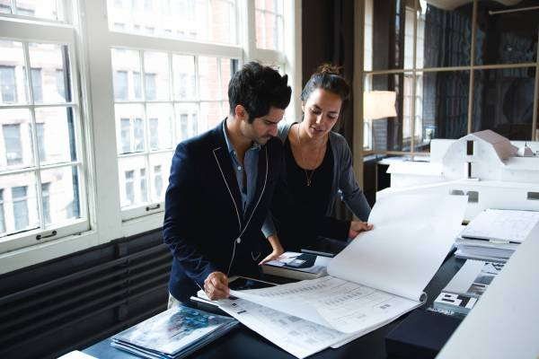 Office 1 (Andre Balazs' Properties, New York): Employees looking over plans