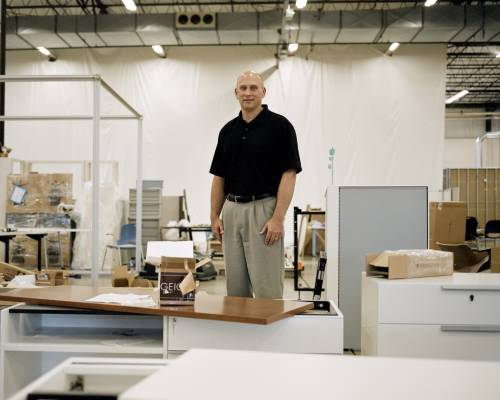 Gregg VanderKooi, production manager at Herman Miller