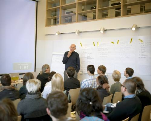 Rem Koolhaas lecturing
