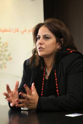 Palestinian tourism minister Khouloud Daibes