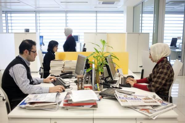 Journalists at Zaman