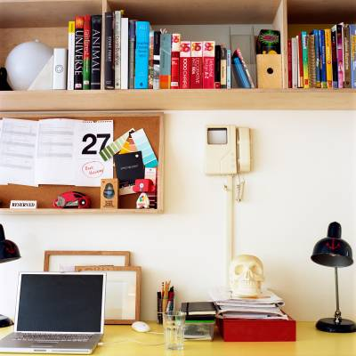 Office 4 (not to Scale, London): Desks are customised with eclectic finds