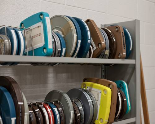 Film reels of Ray and Charles Eames