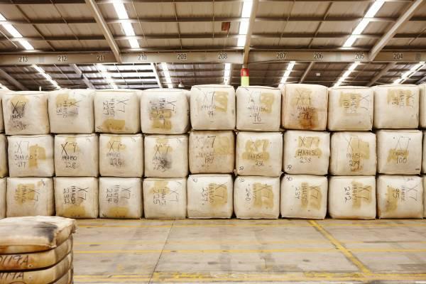 Sold wool bales