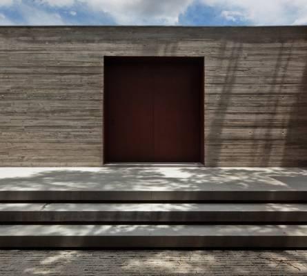 V4's minimalist main entrance