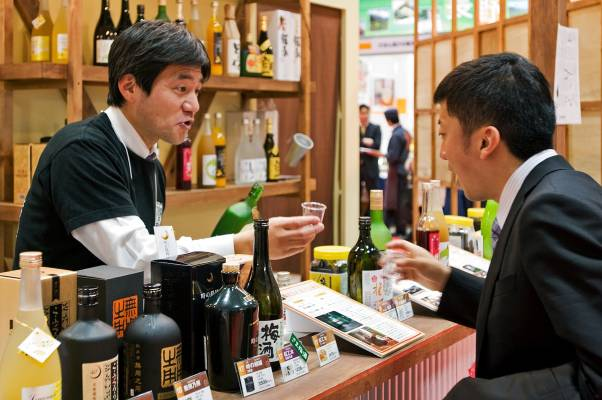 A tasting bar for locally made alcoholic drinks