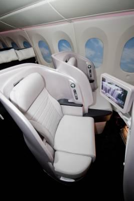 New angled seating in Premium Economy