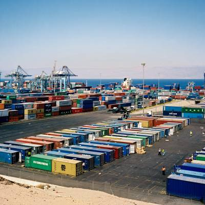 Containers at Aqaba port
