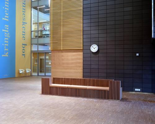 Interior with artwork, left, by Icelandic artist Birgir Andrésson