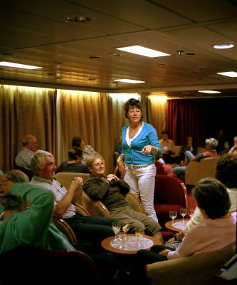 Drinks in the main lounge after trivia game