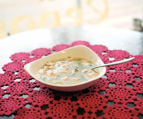 Salmon soup at Cafe & Eepos