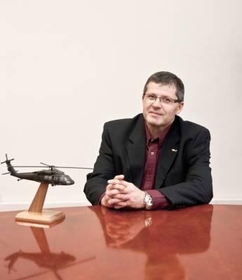 PZL Mielec's CEO, Janusz Zakrecki